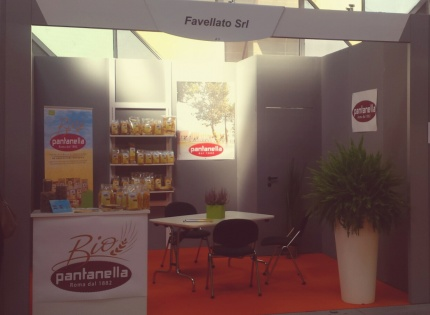 Favellato  pasta factory is at Sana in Bologna, international exhibition for organic products