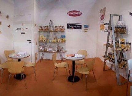 Favellato pasta factory is at Tuttofood in Milano, the international food exhibition
